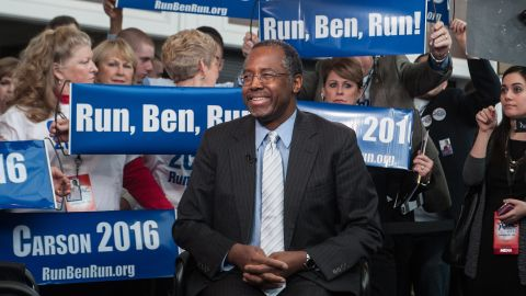 On March 2, retired neurosurgeon Ben Carson announced the launch of an exploratory committee. The move will allow him to raise money that could eventually be transferred to an official presidential campaign and indicates he is on track with stated plans to formally announce a bid in May.