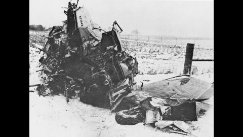 """Holly, Ritchie Valens, J.P. """"The Big Bopper"""" Richardson and pilot Roger Peterson all died in the crash, which was blamed on poor weather and possible pilot error. It was snowing that night, with high winds and poor visibility."""