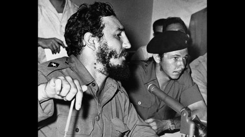 Castro, left, became Cuba's prime minister in February 1959. His brother Raul, right, was commander in chief of the armed forces.