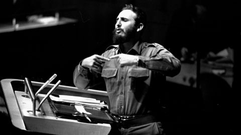 Castro addresses the UN General Assembly in September 1960.