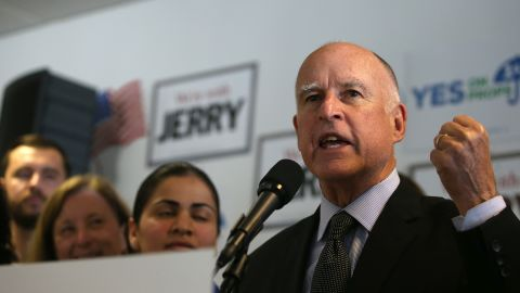 """Jerry Brown: """"If no one runs and [everyone] says we'll have an absent Democratic nominee, would I rule that out? I mean, that would be a little silly, wouldn't it?"""""""