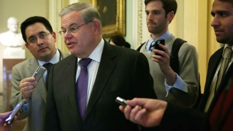 """U.S. Sen. Robert Menendez, a New Jersey Democrat, was indicted on corruption charges in April 2015. Federal prosecutors have accused Menendez of using his Senate office to push the business interests of a friend and donor in exchange for gifts. <a href=""""http://www.cnn.com/2015/04/02/politics/menendez-indictment-takeaways/"""">The senator has pleaded not guilty</a> to the charges and vehemently asserts his innocence."""