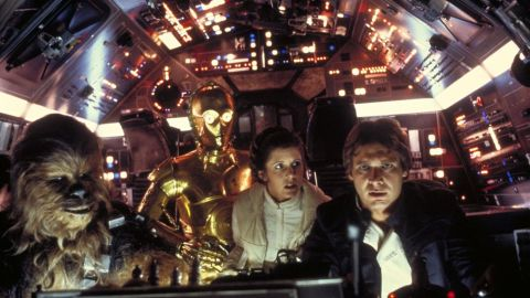 """Much of the original """"Star Wars"""" played like a throwback to old pulp flicks, with Han Solo and Princess Leia providing the witty repartee. Chewbacca the Wookiee and android C-3PO were along for the ride."""