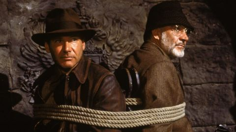 """Sean Connery played Ford's dad in 1989's """"Indiana Jones and the Last Crusade,"""" the third film in the franchise."""
