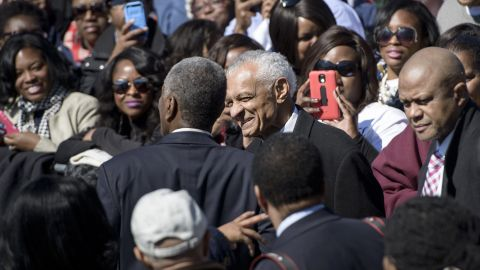 The Reverend C. T. Vivian, a civil rights leader and friend of Dr. Martin Luther King Jr., arrives in Selma for the event.