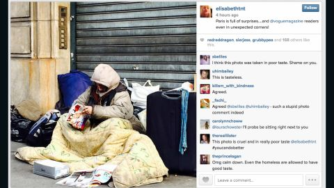 This photo was deleted from Vogue style editor-at-large Elisabeth von Thurn und Taxis' Instagram account.