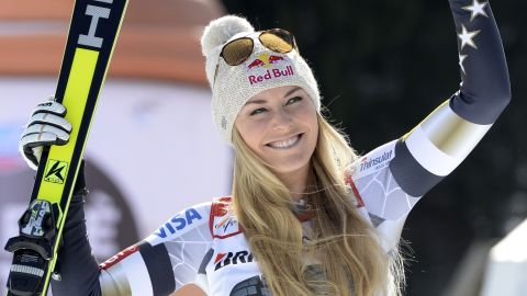 """The two attracted attention wherever they went but their hectic schedules meant that the relationship fizzled out after three years. """"I'm enjoying just kind of focusing on myself right now,"""" said Vonn."""
