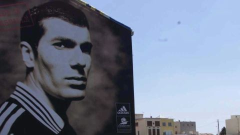 """Zidane grew up in the Marseille suburb of Castellane. He obtained his first player's """"licence"""" at the age of 10."""