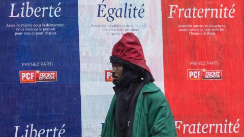 The idea of liberté, égalité, fraternité in France was tested after 17 people were killed in three days of violence in January that began when two Islamist gunmen burst into Charlie Hebdo's Paris offices.