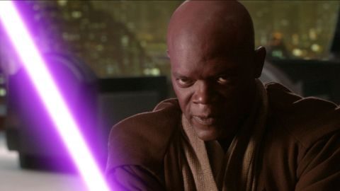 """Samuel L. Jackson played Jedi Master Mace Windu in """"Attack of the Clones"""" and """"Revenge of the Sith."""""""