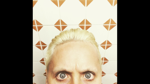 """Actor and singer Jared Leto shows off a new hairstyle on Sunday, March 8. """"Take a deep look inside,"""" <a href=""""https://instagram.com/p/z_DNl7zBaz/?modal=true"""" target=""""_blank"""" target=""""_blank"""">he said on Instagram.</a> """"Like what you see? Or not. #lovelustfaithdreams"""""""
