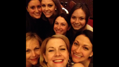 """""""Happy International Women's Day,"""" <a href=""""https://instagram.com/p/z945ELFHvn/?modal=true"""" target=""""_blank"""" target=""""_blank"""">said actress Melissa Joan Hart,</a> bottom center, on Sunday, March 8. """"Here are some of my favorite women all together my mom and many sisters."""" <a href=""""http://www.cnn.com/2015/03/04/living/gallery/look-at-me-selfies-0304/index.html"""" target=""""_blank"""">See 33 selfies from last week</a>"""
