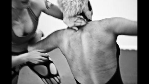 Red Devil takes on a Polish wrestler named Sandra.