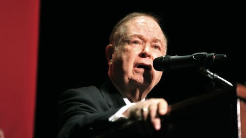 University of Oklahoma President David Boren speaks during a news conference on campus March 9. Boren said that he was angered, outraged and saddened by what he saw in the video. Boren stressed that the fraternity members' behavior is not indicative of what University of Oklahoma students represent.