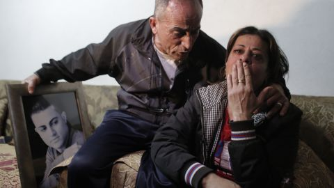"""The parents of 19-year-old Mohammed Musallam react at the family's home in the East Jerusalem Jewish settlement of Neve Yaakov on Tuesday, March 10. <a href=""""http://www.cnn.com/2015/03/10/middleeast/isis-video-israeli-killed/"""">ISIS released a video purportedly</a> showing a young boy executing Musallam, an Israeli citizen of Palestinian descent who ISIS claimed infiltrated the group in Syria to spy for the Jewish state. Musallam's family told CNN that he had no ties with the Mossad, Israel's spy agency, and had, in fact, been recruited by ISIS."""