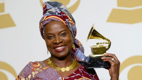 """Angelique Kidjo, who won a Grammy for best world music album in February, selected Miriam Makeba's """"Pata Pata"""" for the playlist."""