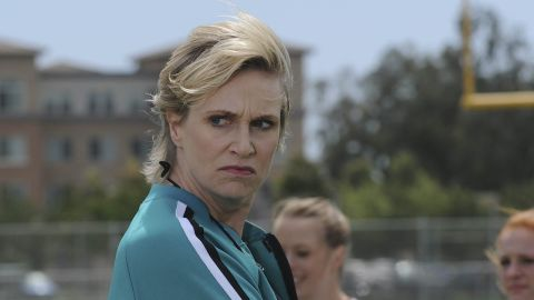 Jane Lynch stole just about every scene as Coach Sue Sylvester.