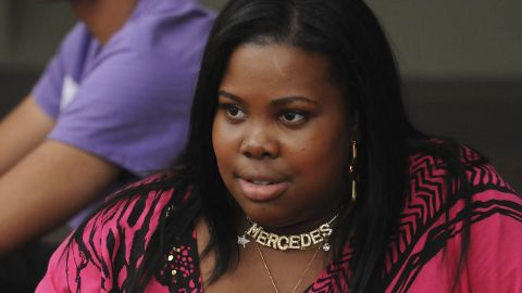 Mercedes (Amber Riley) often competed with Rachel for position in the glee club.