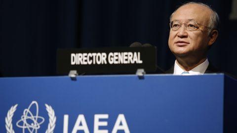 Yukiya Amano is director general of the International Atomic Energy Agency, the U.N.'s nuclear watchdog.
