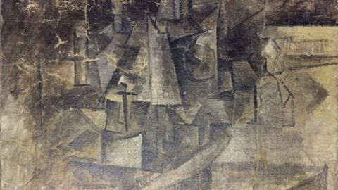 """Picasso's """"La Coiffeuse"""" (""""The Hairdresser"""") was discovered missing in 2001 and was recovered when it was shipped from Belgium to the United States in December 2014. The shipper had listed the item as a $37 piece of art being sent to the United States as a Christmas present."""