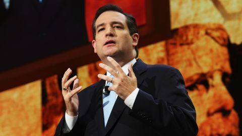 Then-Senate Republican Candidate and Texas Solicitor General Cruz speaks during the Republican National Convention in 2012.