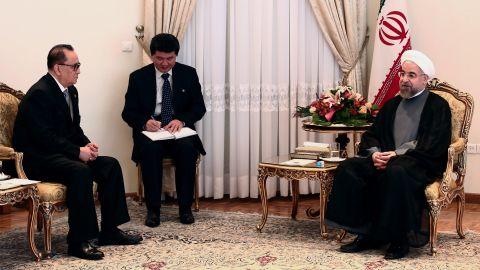 Iran and North Korea have enjoyed a long-term partnership, raising concerns for the U.S. about advancing their nuclear and missiles program. Iranian President Hassan Rouhani met with North Korean officials in Tehran on September 16, 2014.