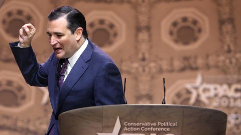Cruz speaks at the CPAC on March 6, 2014, in National Harbor, Maryland.