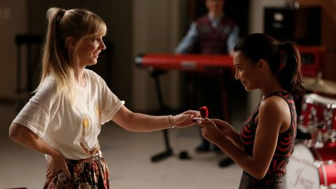 """Last season, Brittany and Santana got engaged. Morris appeared in 2015's """"Most Likely to Die."""""""