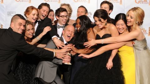 """""""Glee"""" co-creator Ryan Murphy, center, has become a hot property in Hollywood."""