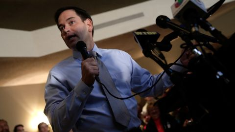 Rubio speaks in November 2013 during a campaign stop for Virginia Attorney General Ken Cuccinelli, the Republican candidate for governor of Virginia.