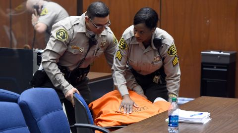 Knight collapses in a Los Angeles court on March 20, 2015 after a judge set his bail at $25 million. Knight, who suffers from diabetes and complications, was taken to the hospital, his attorney told CNN affiliate KABC-TV.