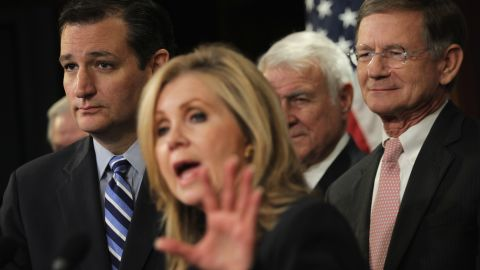 From left, Cruz attends a Capitol Hill news conference with U.S. Reps. Marsha Blackburn, John Carter and Lamar Smith in September. Cruz discussed immigration reform at the news conference.
