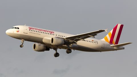"""This undated file photo shows the Germanwings<a href=""""http://www.cnn.com/2015/03/24/travel/airbus-a320-profile-new/index.html""""> Airbus A320</a> that crashed. Germanwings is a low-cost airline owned by the Lufthansa Group."""