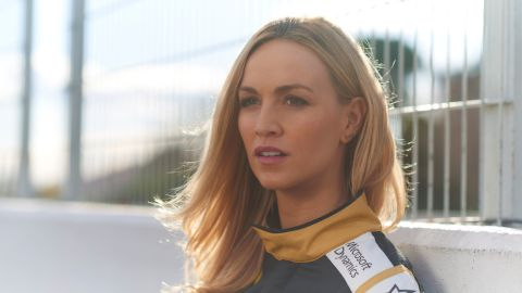 """""""Carmen is intelligent, incredibly determined and believes women have their place in motorsport,"""" the website says of the Spaniard."""