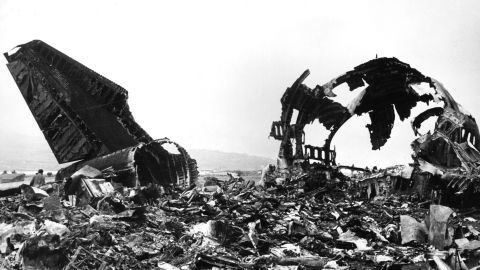 1977: Two Boeing 747s collide in fog at Saint Cruz airport in the Canary Islands, killing 583.