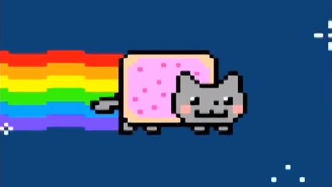 """<a href=""""https://www.youtube.com/watch?v=QH2-TGUlwu4"""" target=""""_blank"""" target=""""_blank"""">Nyan Cat</a>, a YouTube video updated in 2011, has been viewed nearly 200 million times."""