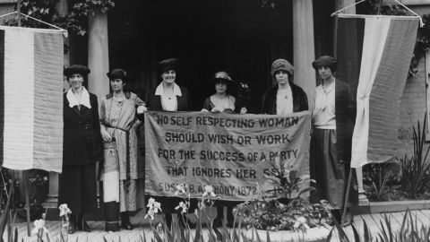 The feminist activists of the 1960s and '70s weren't the first to push for an Equal Rights Amendment. Suffragist leader Alice Paul, second from right, fought hard to pass the 19th Amendment -- which earned women the right to vote in 1920. She drafted the first ERA and introduced it to Congress in 1923.