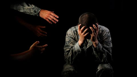 The photo illustration won a first-place award for showing how family and friends can reach out and help a service member get treatment for mental-health problems.