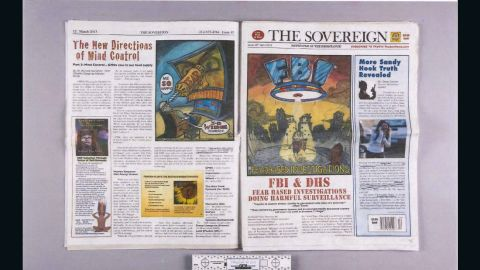 """This copy of The Sovereign, which calls itself the """"newspaper of the resistance,"""" was also found in Tamerlan Tsarnaev's apartment."""