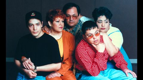 Music was the family business for Selena and her family. From left are her husband, Chris Perez, who played guitar in her band; her parents, Marcela and Abraham Quintanilla (her father created the band and was its manager); and siblings and bandmates A.B. (who played bass) and Suzette (who played drums).