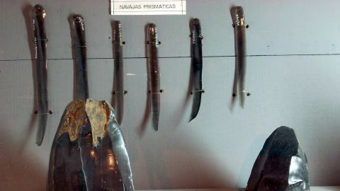 Mesoamerican cultures such as the Mayans and the Aztecs sometimes performed human sacrifices using obsidian blades.