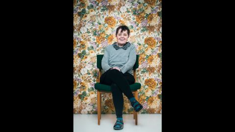 """Bjork, age 55. """"We don't often see older people with Down syndrome, and individuals with Down syndrome are often portrayed as being the same,"""" photographer Sigga Ella said. """"My goal was to show diverse personalities in a broad age range, to show that although they share the syndrome, they are all unique."""""""