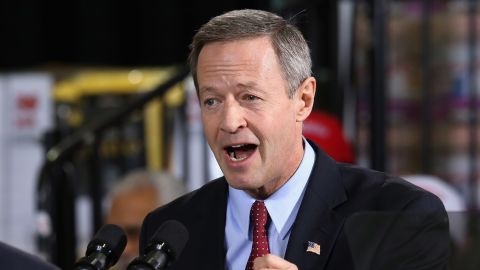 O'Malley delivers remarks before Barack Obama takes the stage at a Costco store January 29, 2014 in Lanham, Maryland.