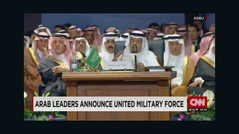 Arab coalition meeting