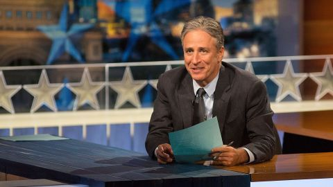 """AUSTIN, TX - OCTOBER 28:  Host Jon Stewart at """"The Daily Show with Jon Stewart"""" covers the Midterm elections in Austin with """"Democalypse 2014: South By South Mess"""" at ZACH Theatre on October 28, 2014 in Austin, Texas.  (Photo by Rick Kern/Getty Images for Comedy Central)"""