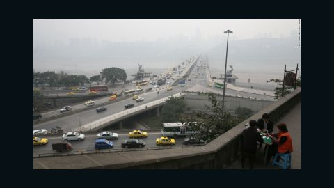 The southwest Chinese city of Chongqing is built on several rivers and mountains, and its road network is full of bridges and tunnels -- all of which contribute to a buildup of traffic.