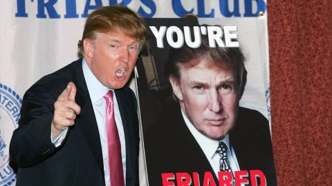 Trump attends the Donald Trump Friars Club Roast Luncheon at the New York Hilton on October 15, 2004, in New York City.