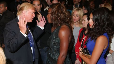 Trump and professional tennis player Serena Williams attend the Gucci cocktail party for the Foundation For the Advancement of Women Now at Gucci Fifth Avenue on September 16, 2009, in New York City.