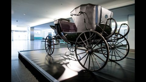 """The Smithsonian's National Museum of American History has partnered with Ford's Theatre to display (through May 25) the carriage in which the Lincolns and their guests rode on April 14, 1865. The carriage is on loan from the <a href=""""http://www.studebakermuseum.org/p/whats-happening/exhibits/the-presidential-carriage-collection/"""" target=""""_blank"""" target=""""_blank"""">Studebaker National Museum</a>. The open barouche model was built by Wood Brothers in 1864 and presented to the President by a group of New York merchants shortly before Lincoln's second inauguration."""