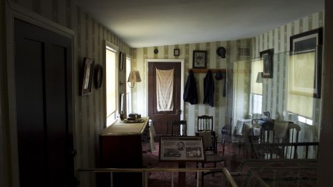 """Lincoln, whose wound was found to be mortal, was taken from Ford's Theatre to the <a href=""""http://www.nps.gov/foth/the-petersen-house.htm"""" target=""""_blank"""" target=""""_blank"""">Petersen House</a>, which is now maintained by the National Park Service. His body was laid across a bed too small for him, and doctors, family and officials kept vigil. He died at 7:22 a.m. April 15. Secretary of War Edwin Stanton was said to declare, """"Now, he belongs to the ages."""" The bed is on display (through February) at the Abraham Lincoln Presidential Library and Museum in Springfield, Illinois."""